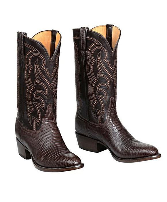 Santa Fe Cowboy Boots  Lucchese Men's Western Boot Kip, Cigar Right view