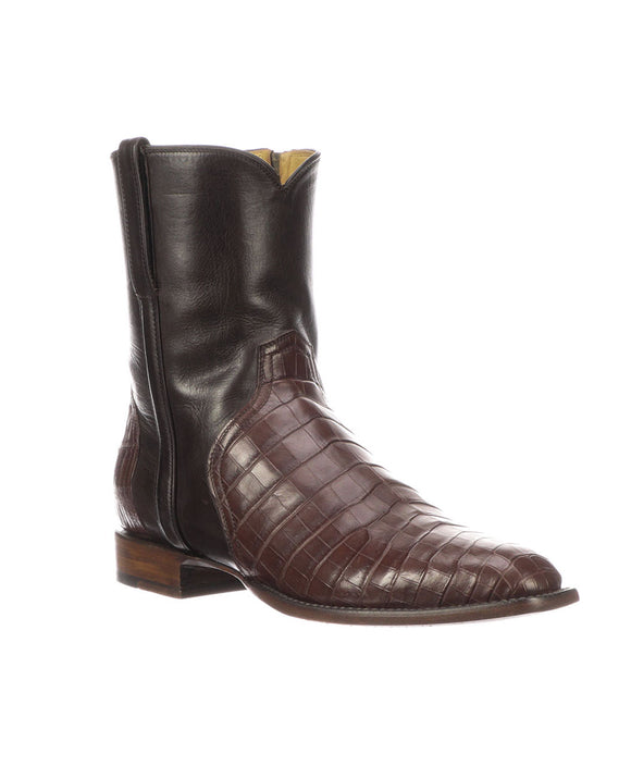 Santa Fe Cowboy Boots Lucchese - Men's Dress Boot, Elliot Brown Side view