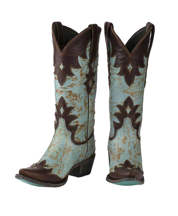 Santa Fe Cowboy Boots Lane - Diamond Dust Women's Boot Front View