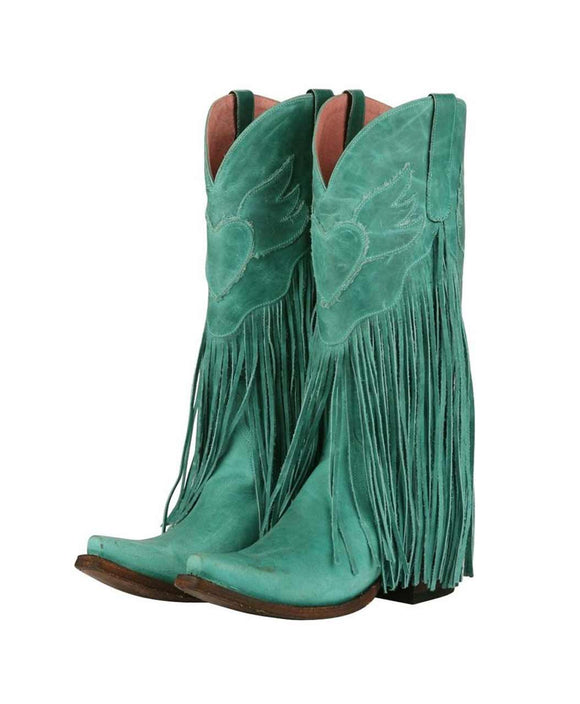 Santa Fe Cowboy Boots - Dreamer Colorful Fringe Cowgirl Boots