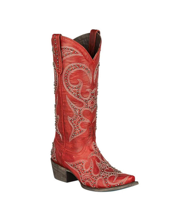 Lane Boots - Lovesick Stud Women's Boot Red