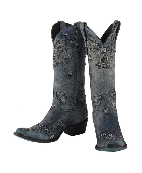 Santa Fe Cowboy Boots lane - Sweet Paisley Embroidered