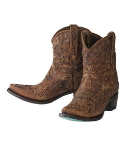 Santa Fe Cowboy boots Lane Boots Robin Bootie Both shoes.