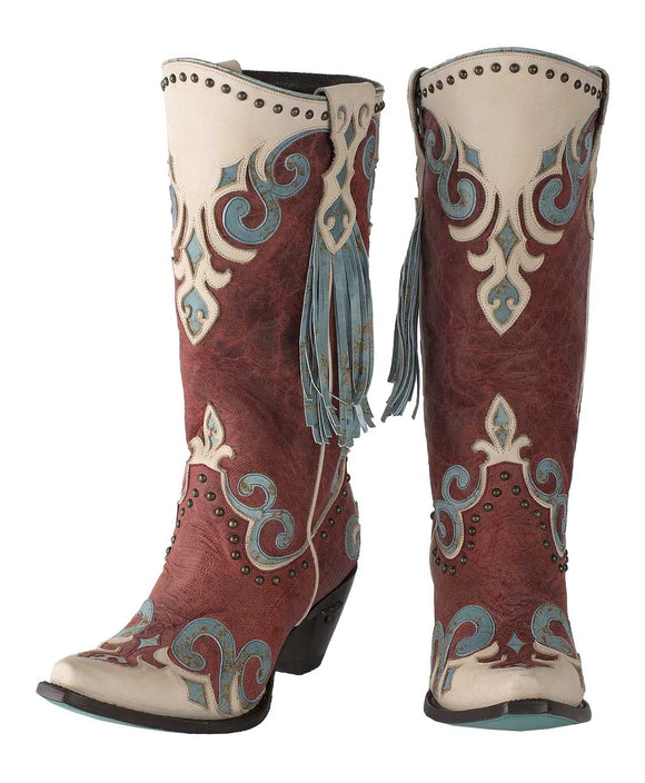 Santa Fe Cowboy Boots Royal Lane Boot in strawberry.