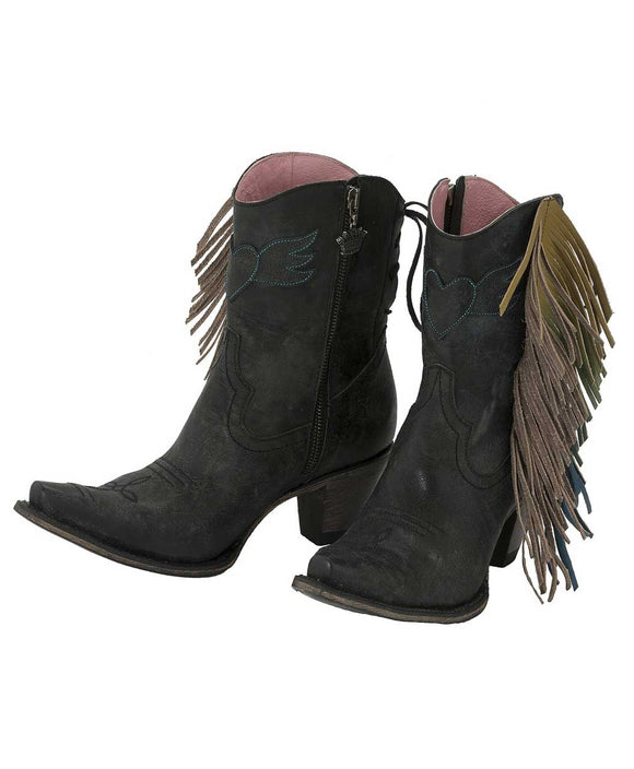 Santa Fe Cowboy Boots Lane Boots Junk Gypsy spirit animal shortie.