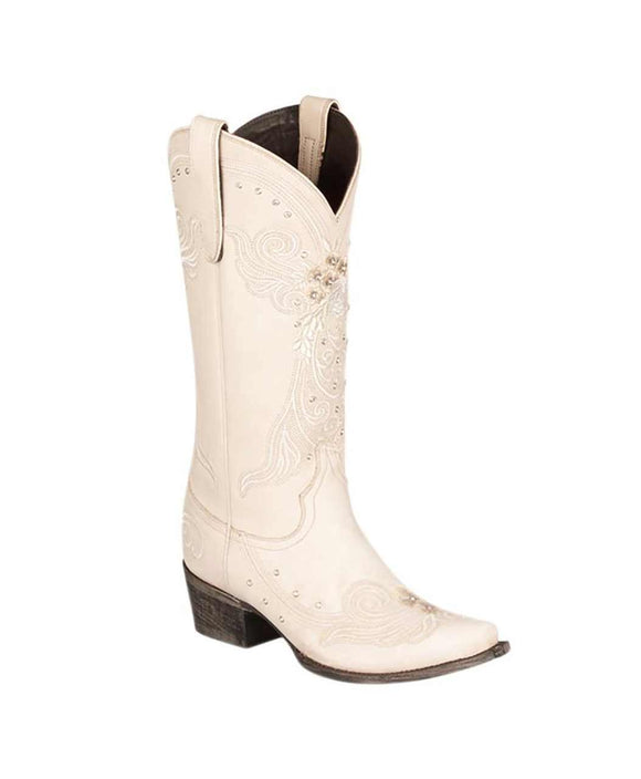 Santa Fe Cowboy Boots Lane - White Wedding left view