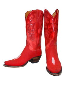 Santa Fe Cowboy Boots Lucchese - Classic Imperial Red