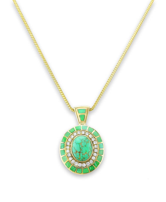 Santa Fe Jewelry Maverick's Carico Lake Green Turquoise Inlay