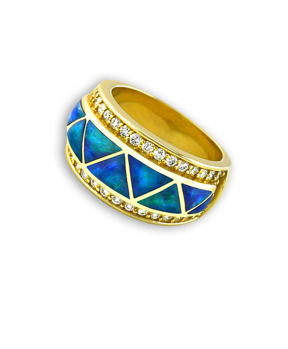 Santa Fe Jewelry Maverick's Diamond 14K Gold Ring.
