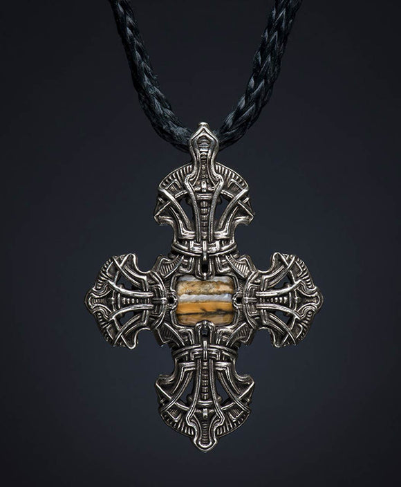 Santa Fe Jewelry Kells Cross 2 Necklace With Reversible Pendant