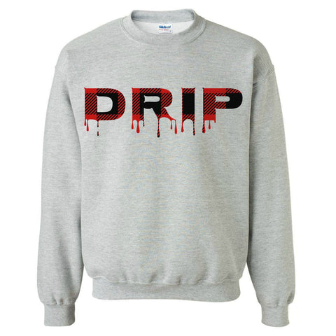 Buffalo Plaid Drip Sweatshirt