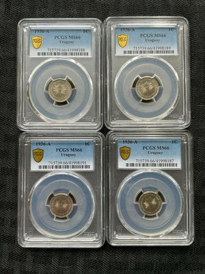 1936-A Uruguay 1 Centesimo PCGS MS66 (4 Available) (1 Coin Only!)