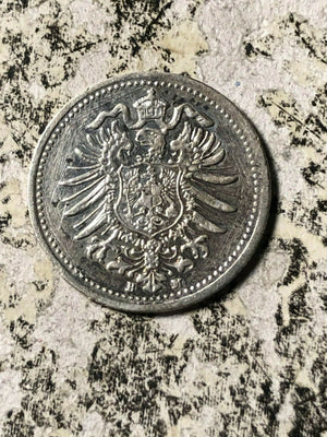 (c. 1870's) Germany Love Token on Silver 20 Pfennig Lot#JM697