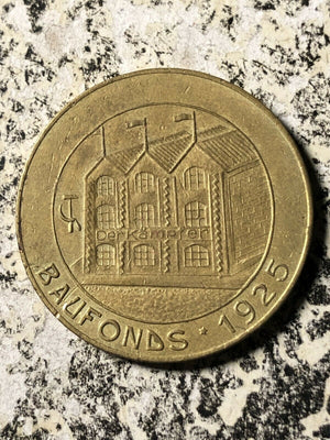 1925 Germany Chemnitz Baufonds 1 Mark Lot#JM693 Communist Token Scarce!