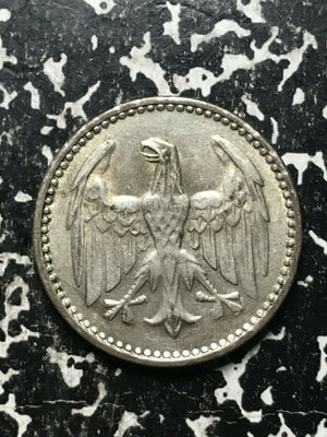1924-G Germany 3 Mark Lot#L482 Silver!