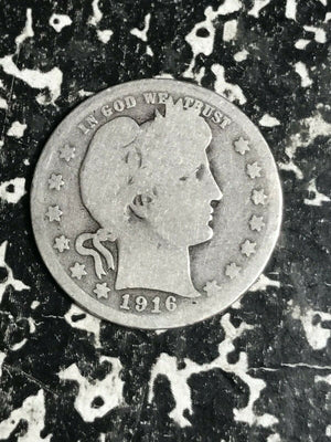 1916 U.S. Barber Quarter Lot#L3041 Silver!