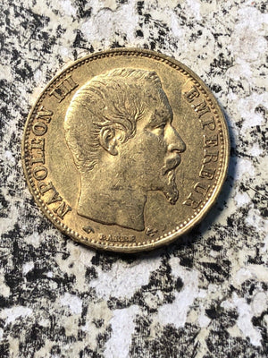 1857-A France 20 Francs Gold Lot#JM450 .1867 AGW
