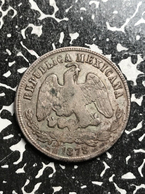 1878-Zs S Mexico 50 Centavos Lot#X6563 Silver! Low Mintage!