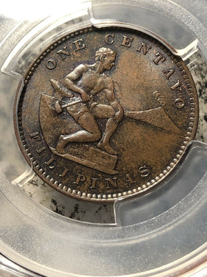 1903 U.S. Philippines 1 Centavo PCGS MS64 Brown Lot#G163 Nice UNC!