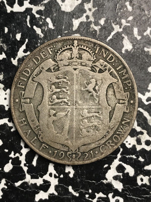 1921 Great Britain 1/2 Half Crown Lot#1319