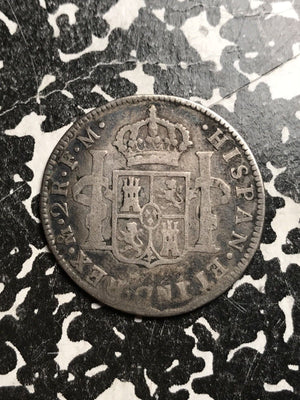 1787-Mo FM Mexico 2 Reales Lot#X6646 Silver!