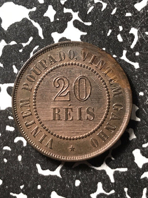 1889 Brazil 20 Reis Lot#X1781 High Grade! Beautiful! Low Mintage!