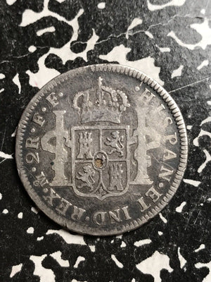1780-Mo FF Mexico 2 Reales Lot#X6642 Silver!