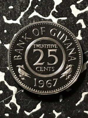 1967 Guyana 25 Cents Lot#X1863 Proof!