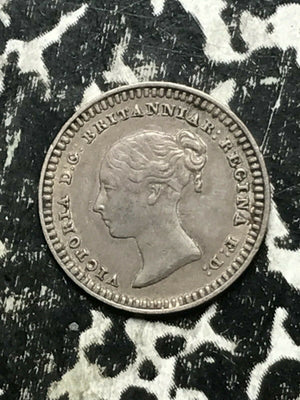 1843 Great Britain 1 1/2 Pence Lot#L426 Silver! Nice! Low Mintage!