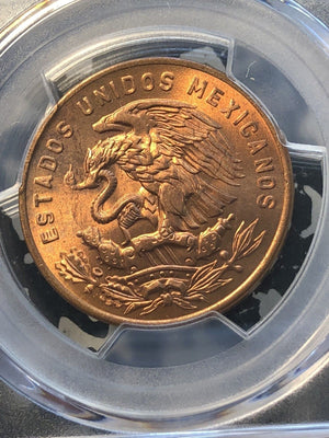 1957-Mo Mexico 20 Centavos PCGS MS66 Red Lot#G995 Gem BU!