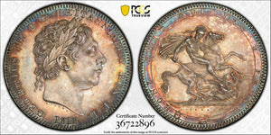 1818 Great Britain 1 Crown PCGS AU58 Lot#G200 Silver! Exceptional Example!