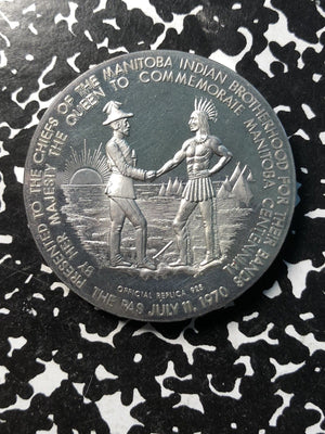 1970 Canada Indian Chiefs .925 Sterling Silver Medal ~40mm With Original Case