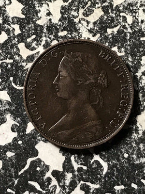 1864 Nova Scotia Large Cent Lot#X225 Nice!