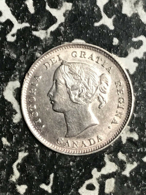 1901 Canada 5 Cents Lot#L3250 Silver! Beautiful Detail! Old Cleaning