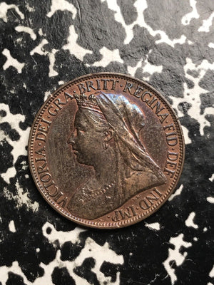 1900 Great Britain 1 Farthing Lot#0119 Nice!