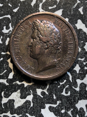1842 France King Louis Philippe Medal Lot#JM110 ~28mm Cleaned