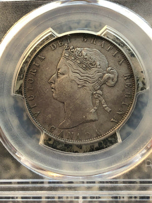 1870 LCW Canada 50 Cent PCGS VF35 Lot#GB106 Silver!