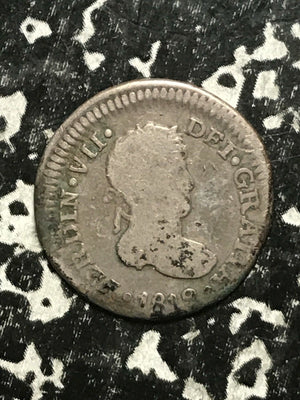 1819-JJ Mexico 1 Real Lot#0798 Silver!