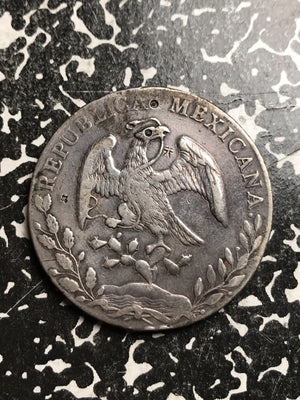 1887-Mo MH Mexico 8 Reales Lot#X6672 Large Silver Coin! Chopmarked