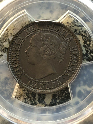 1859/8 Canada Large Cent PCGS AU53 Lot#GB091 Wide 9 Medallic Axis
