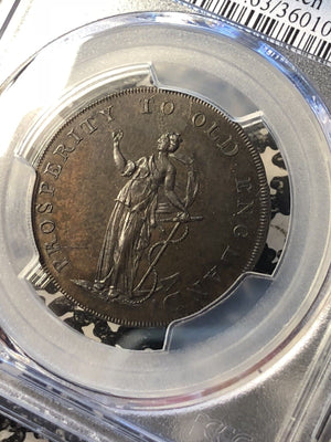 U/D Great Britain Conder Token 1/2 Penny PCGS MS63BN G002 DH#24c Norfolk