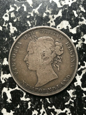 1874 Newfoundland 50 Cent Lot#L641 Silver!