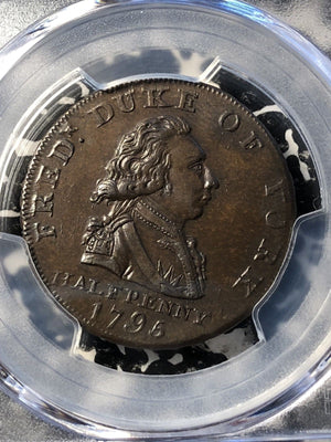 1795 Great Britain Conder Token 1/2 Penny PCGS MS63 BN #G999 DH#985 Middlesex