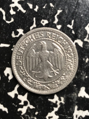 1927-E Germany 50 Pfennig Lot#X8946 Better Date!