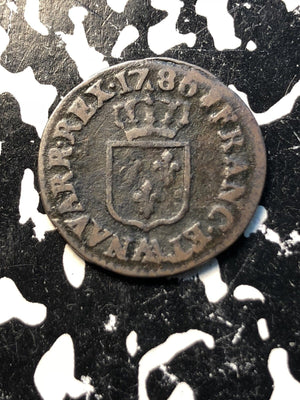 1786-W France 1 Liard Lot#JM174