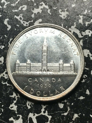 1939 Canada $1 1 Dollar Lot#L450 Large Silver Coin! High Grade! Beautiful!