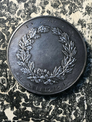 U/D France 'Mens Agit Molem' D.T.A. Laboria Medal Lot#JM1660 ~40mm Silver!