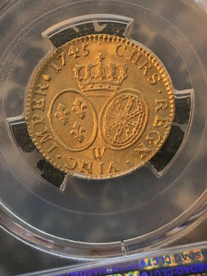 1745-W France Louis D'Or PCGS MS64 Lot#G202 Gold! Exceptional Example!