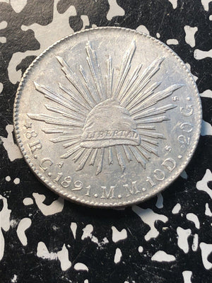 1891-Ca MM Mexico 8 Reales Lot#JM166 Large Silver Coin! High Grade! Beautiful!