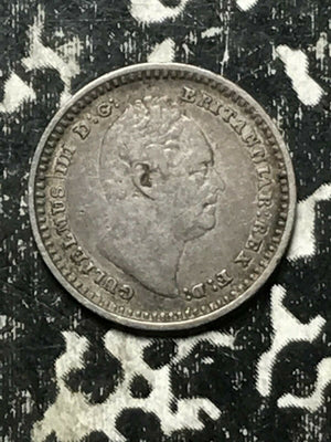 1836 Great Britain 1 1/2 Pence Lot#L445 Silver! Low Mintage!